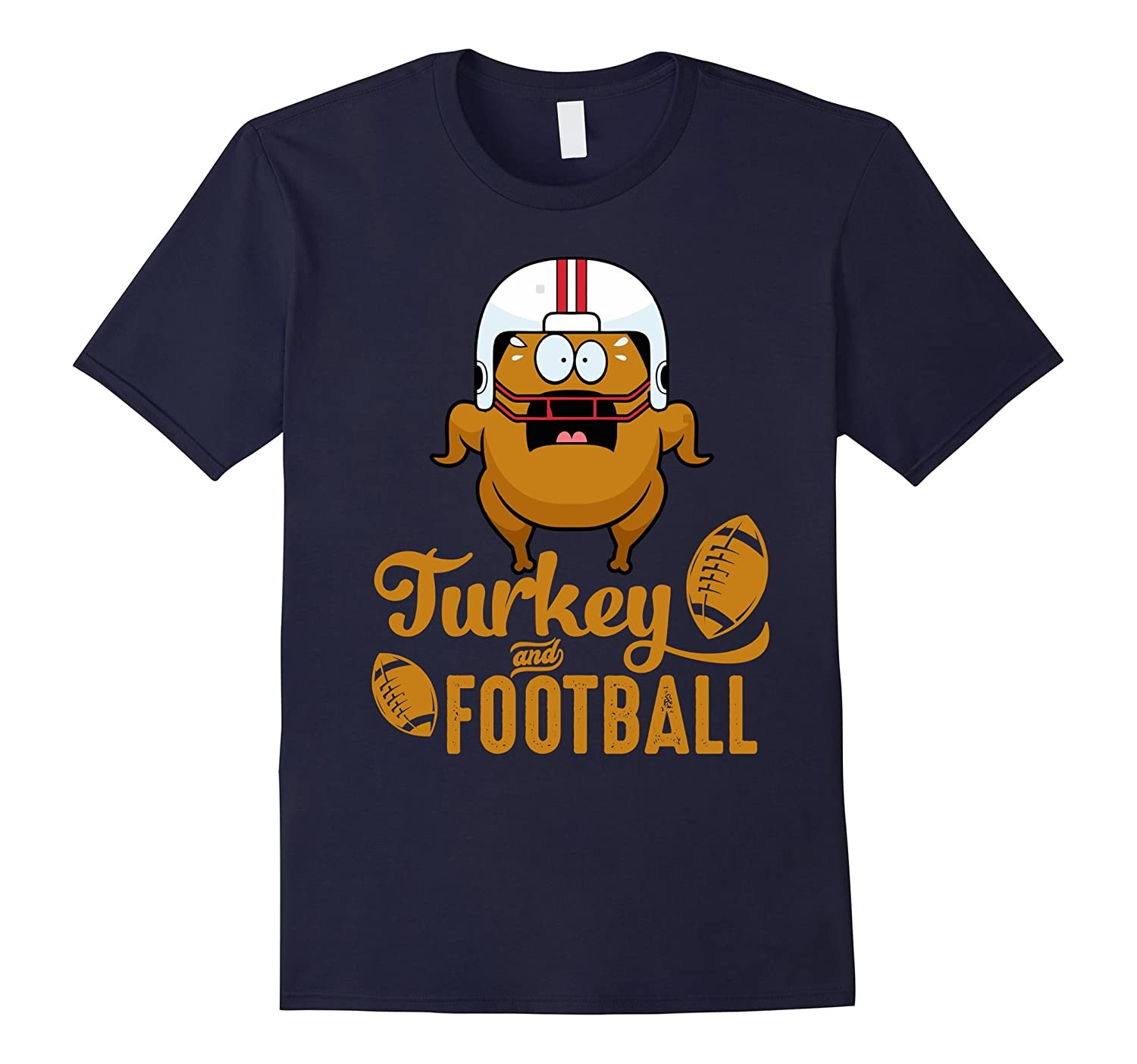 Funny Thanksgiving Turkey Football Shirt Gifts 2017 Outfit-ANZ