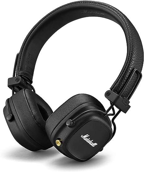 Marshall Major Iv Bluetooth Foldable Headphones Black Elektronik