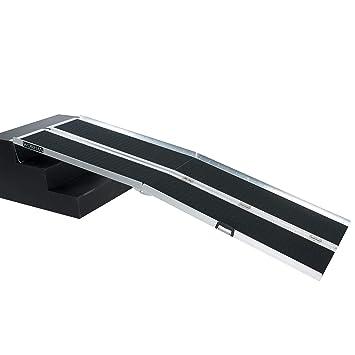 WORHAN® 2.44m Rampa Plegable Carga Silla de Ruedas Discapacitado Movilidad Aluminio Anodizado Modelo de Alta Adherencia 244cm R8J: Amazon.es: Bricolaje y ...