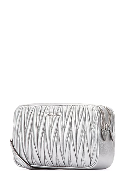 miu miu Women s Cross-Body Bag Silver silver One Size  Amazon.co.uk ... fc1b58488caf2