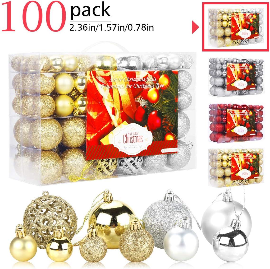 Aitsite Bolas de Navidad 6 cm Bolas de árbol de Navidad Adorno de Pared Colgante de Pared Adornos Decoraciones Árbol Bolas Decorativas Boda de Fiesta Suministro Hogar Decoraciones para Festivales