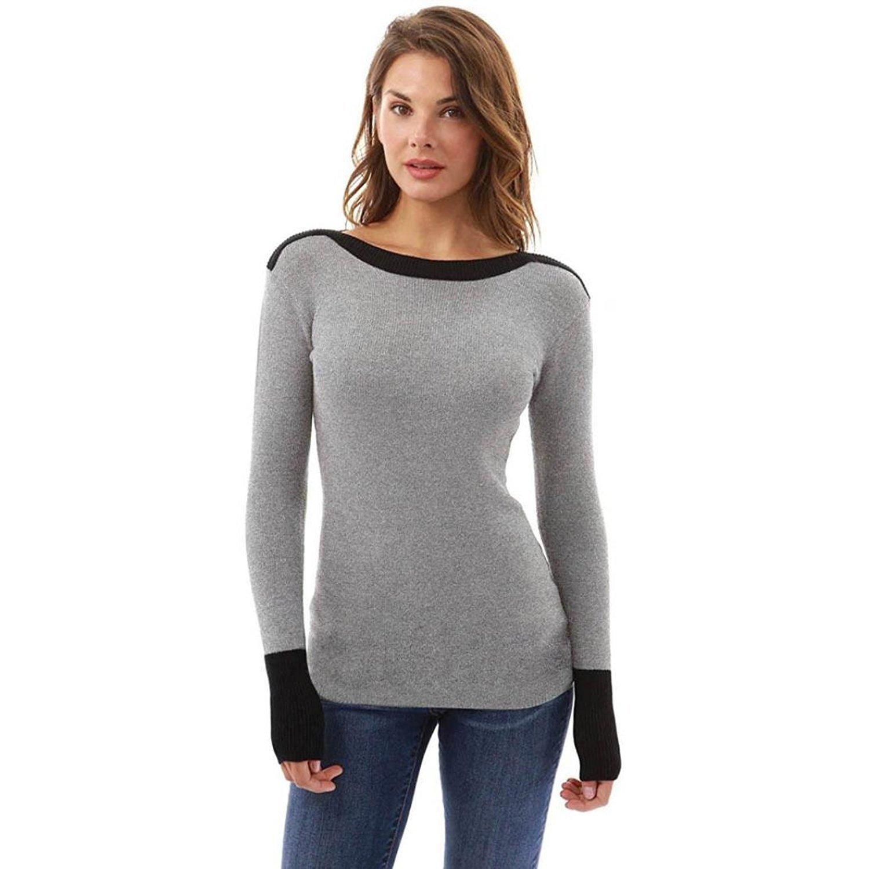 koobea Magliette Donna Maniche Lunghe Nero Inverno Autunno Elegante Donna Tshirt Manica Lunga Tops