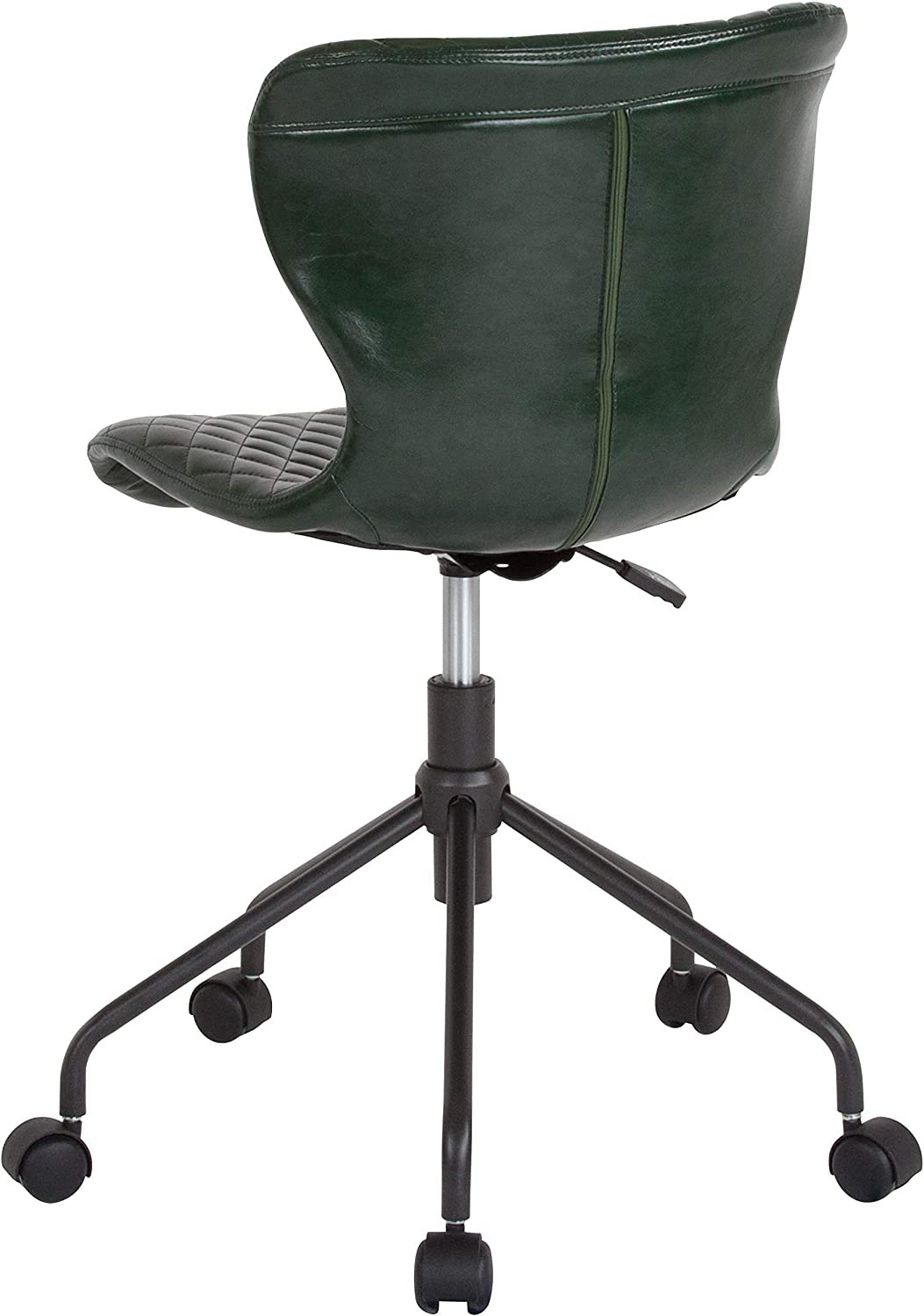 Flash Furniture Somerset Home and Office Upholstered Task Chair in Brown Vinyl
