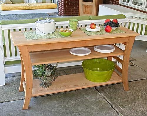 Cedar Entertaining Buffet Table Size 58