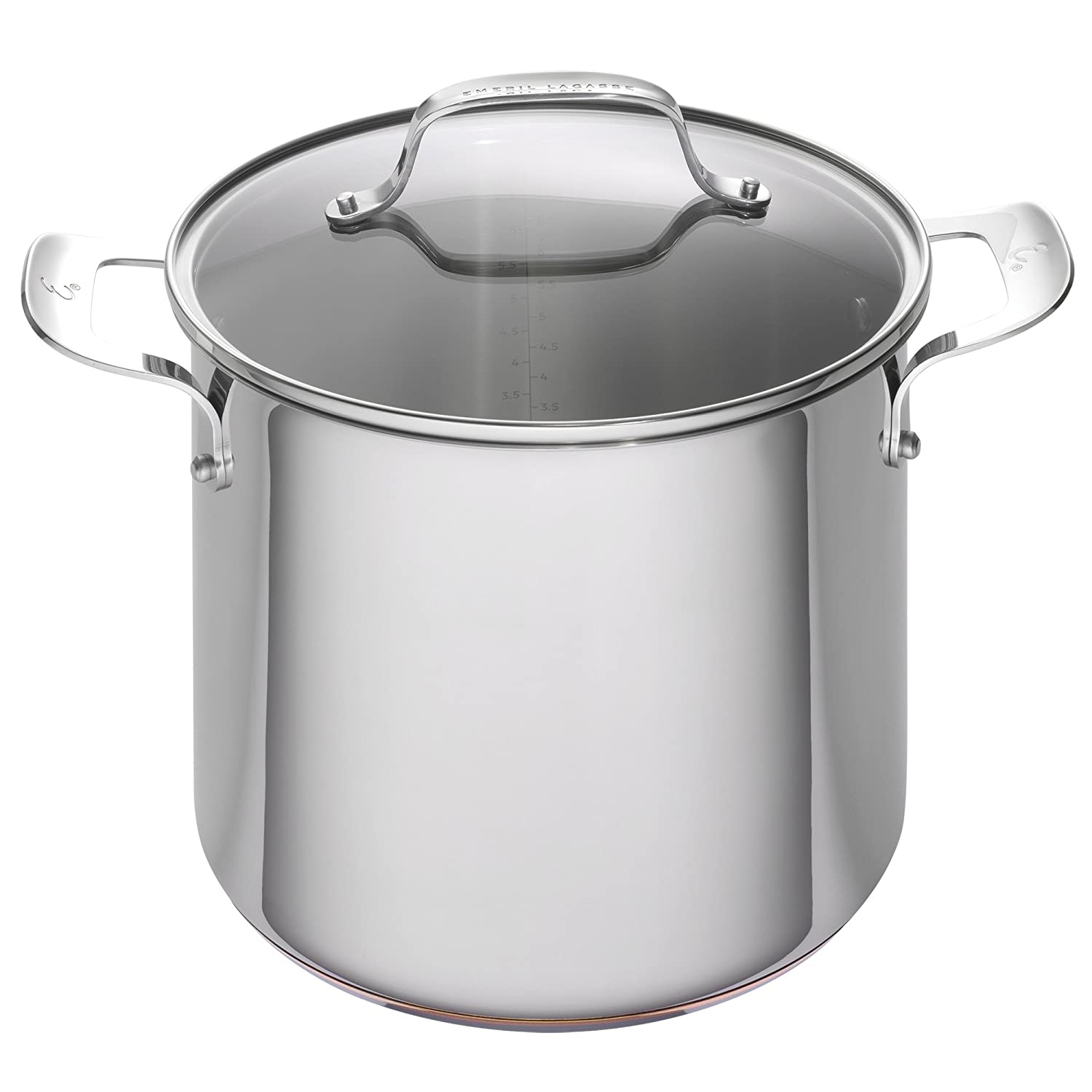 Emeril Lagasse Stainless Steel Copper Core Stock Pot, 8 quart,