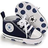 BENHERO Infant Baby Boys Girls Christening Baptism Church Cross Soft Sole Crib Shoes (12cm(6-12months) White 5)