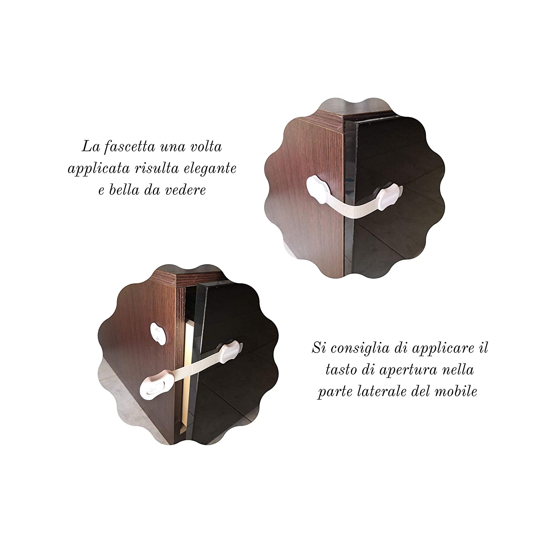 Blocca Cassetti di Sicurezza Bambino Fascetta Di Sicurezza ...