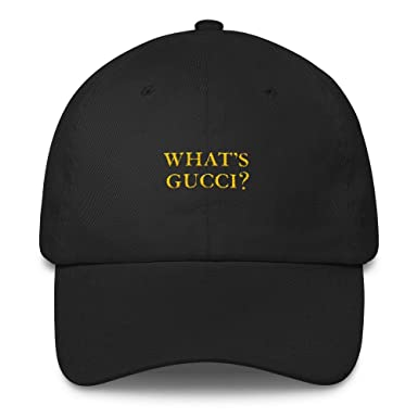 412650e4 Amazon.com: What's Gucci - Dad Hat: Clothing