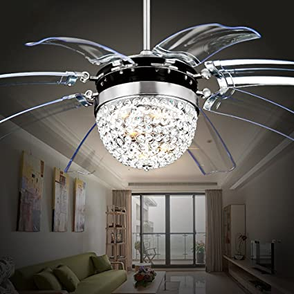 Rs lighting modern fashion 42 inch blades ceiling fan with led rs lighting modern fashion 42 inch blades ceiling fan with led lights transparent 8 aloadofball Choice Image