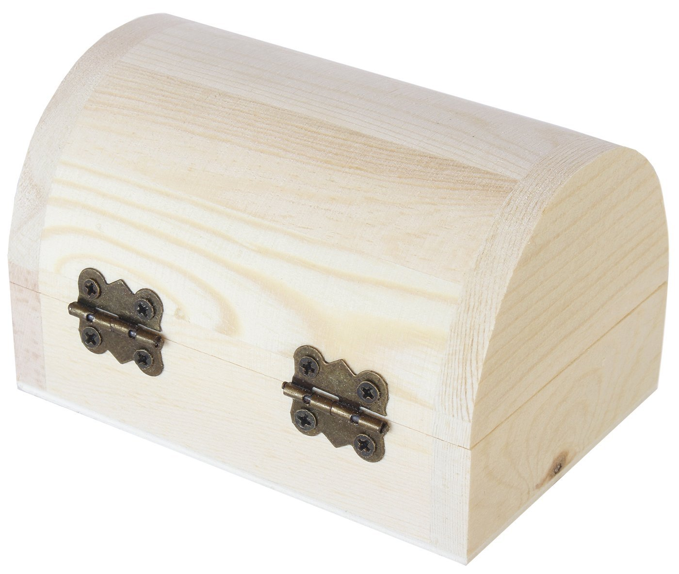 Juvale Unfinished Wood Treasure Chest - 6-Pack Wooden Treasure Boxes Locking Clasp DIY Projects, Home Decor, Props, 2.76 x 3.9 x 2.36 inches by Juvale (Image #2)