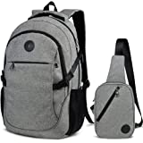 "Laptop School Backpacks 15.6"" College Business Travel Backpack with Sling Chest Bag by EASTERN TIME"