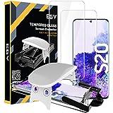 EGV Protector de Pantalla para Samsung Galaxy S20 (6.2 Pulgadas),[3D Cristal Vidrio Templado] [Admite reconocimiento de…