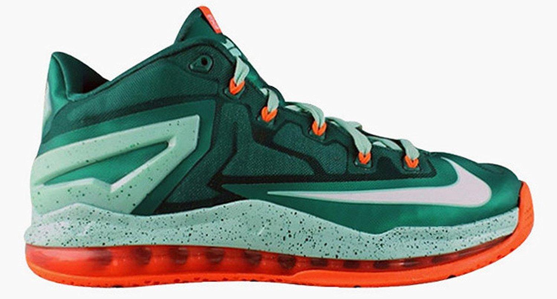 NIKE Air Max Lebron Xi 11 Low Men Basketball Sneakers New B00HQE1IZO 10 D(M) US Green