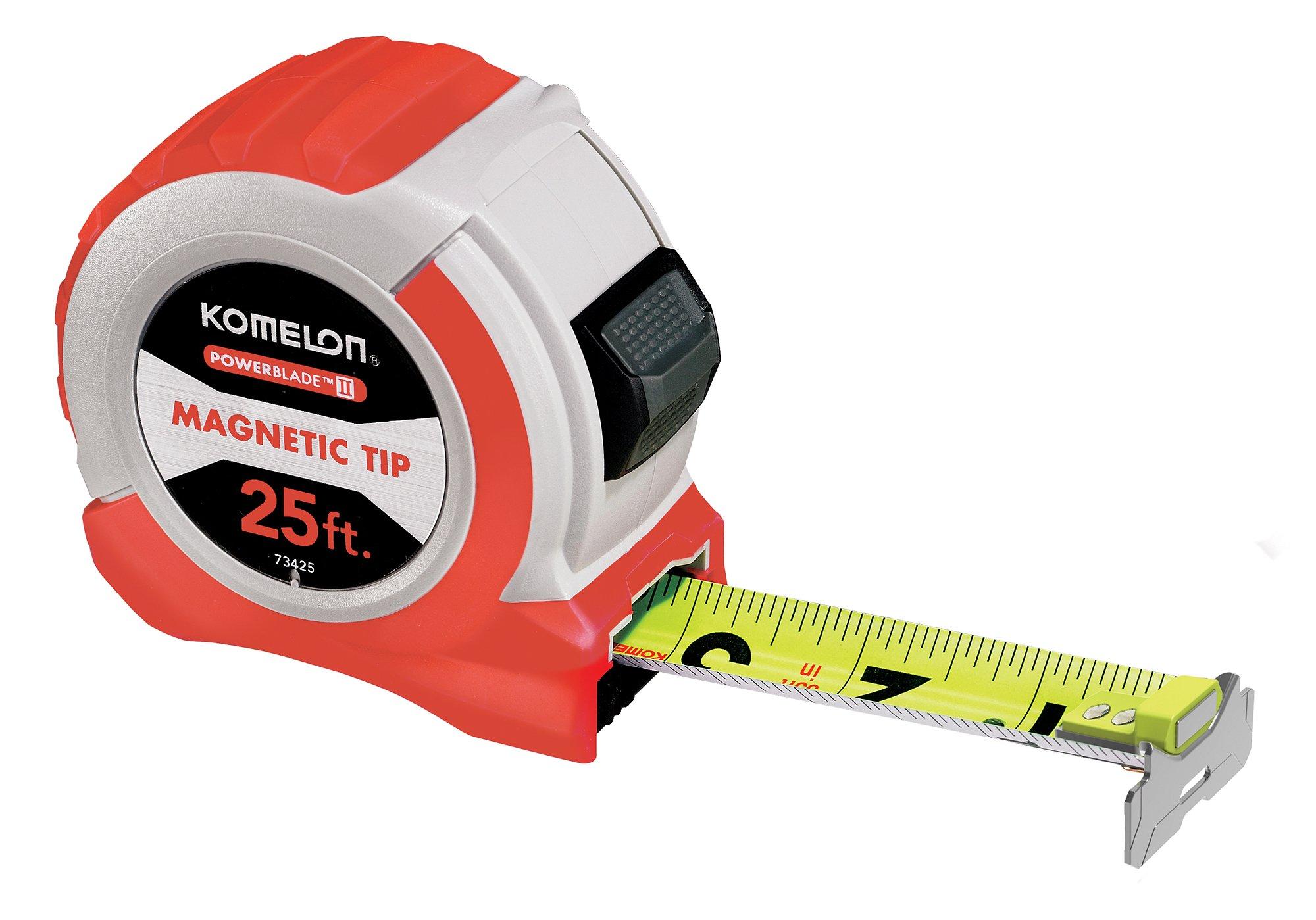 Komelon 73425 25' x 1.06'' Powerblade II Tape Measure