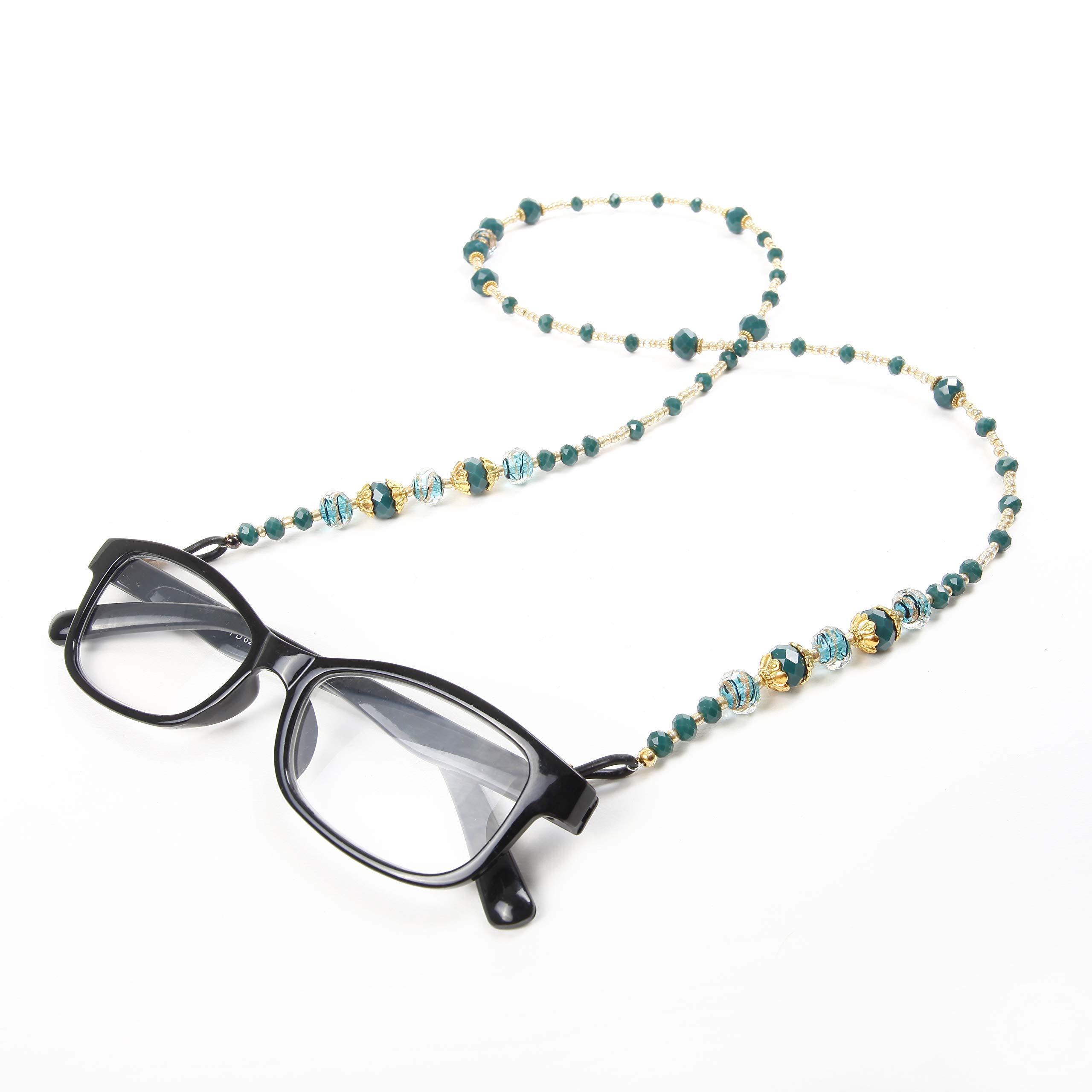 GoChainz - The Emerald - Green & Gold Eyeglass Chain Holder-