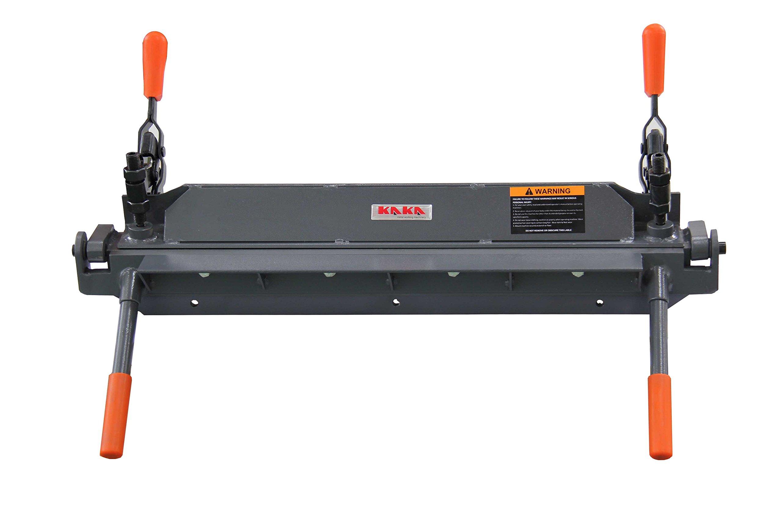 KAKA Industrial W1.2x610 24-Inch Sheet Metal Hand Brake, Solid Sheet Metal Bending Brake, 18 Gauge Mild Steel Capacity