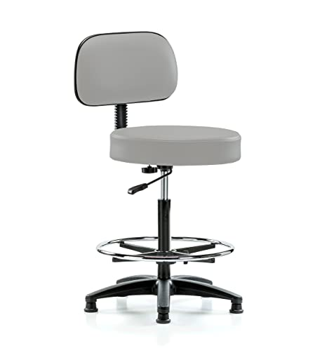 Amazing Perch Walter Stationary Height Adjustable Exam Stool With Back And Footring Counter Height 300 Pound Weight Capacity 12 Year Warranty Gray Inzonedesignstudio Interior Chair Design Inzonedesignstudiocom