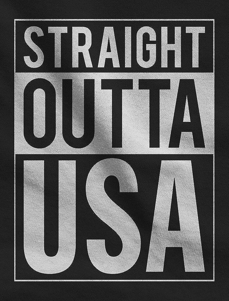 Tstars Straight Outta USA Patriotic Funny 4th of July Toddler//Kids Sweatshirts