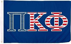 Pi Kappa Phi USA Letter Fraternity Flag Greek Banner Large 3 feet x 5 feet Sign Decor Pi Kapp (Flag - USA)