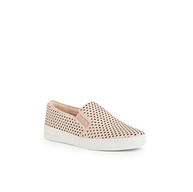 b07f5f5f Amazon.com | Michael Kors Keaton Leather Star Perforated Slip On Sneakers  in Soft Pink Size 9.5 | Fashion Sneakers