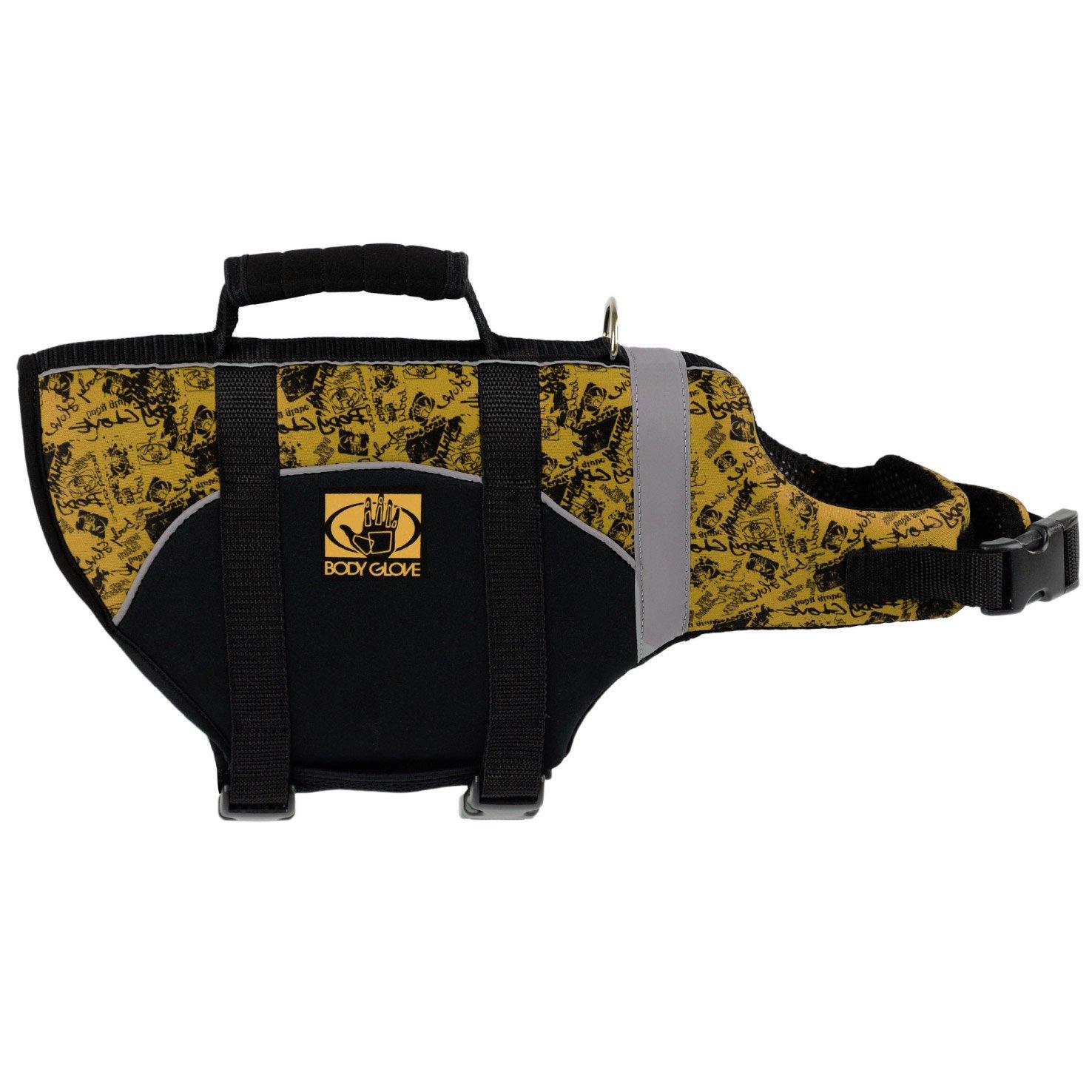 Body Glove Pet Flotation Device, Large, Black/Yellow