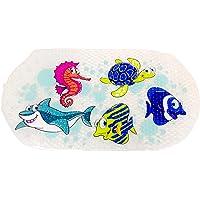 Bath mat Non Slip Sea Creatures Kid PVC Shower Bathtub mat for Baby Child