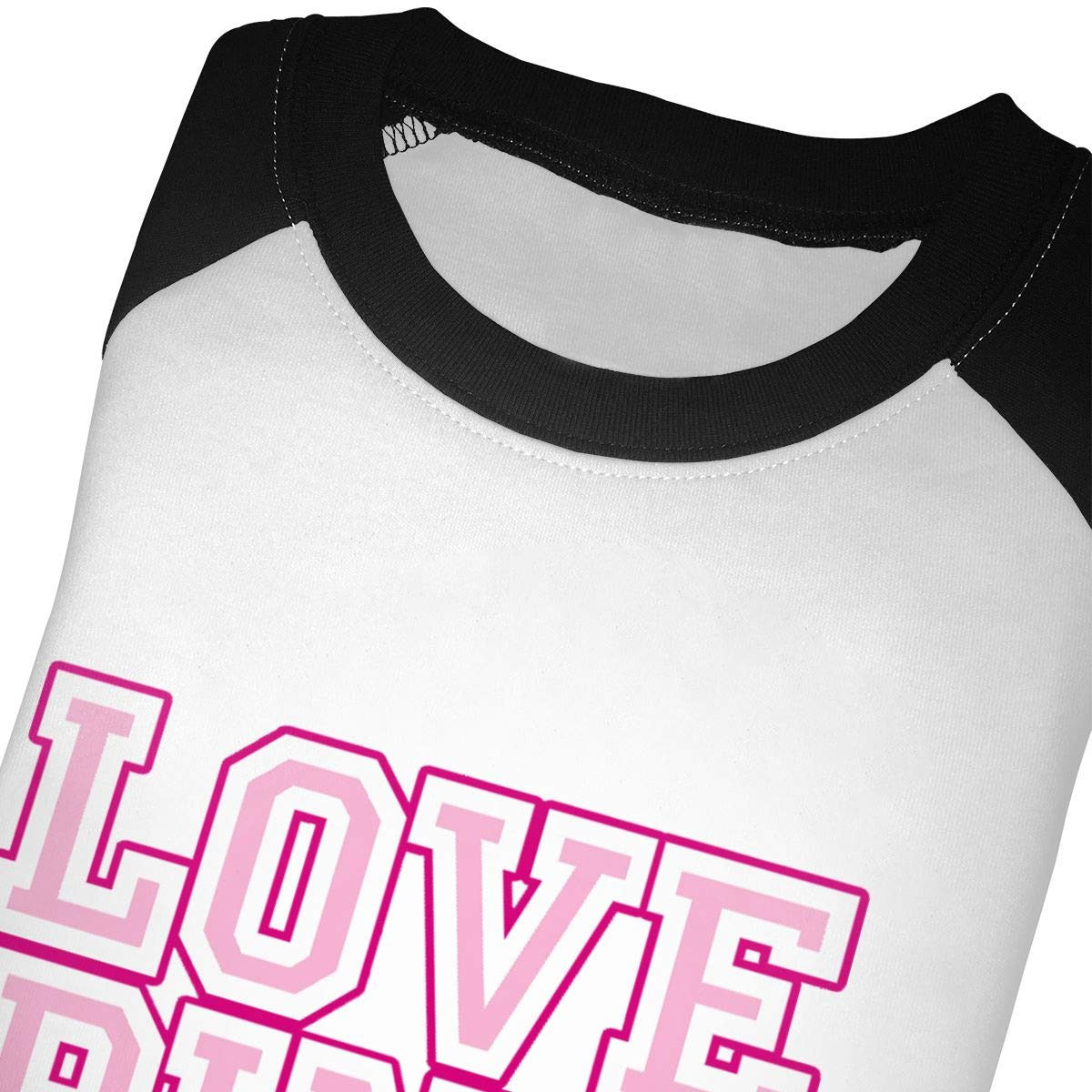 Love Pink Unisex 100/% Cotton Childrens 3//4 Sleeves T-Shirt Top Tees 2T~5//6T