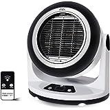 QZT セラミックヒーター ファンヒーター 温風 暖房器具 布団/くつ/衣類乾燥機 小型 6畳対応 90度角度調整 タイマー機能 スマートリモコン付き 省エネ 過熱保護 (ブラック)