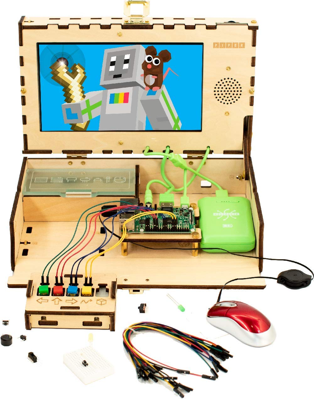 Piper Computer Kit 2 - Teach Kids to Code - Hands On STEM Learning Toy with Minecraft: Raspberry Pi (New) by Piper (Image #2)