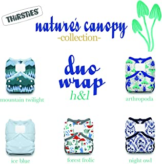 product image for Thirsties Nature's Canopy Cloth Diaper Collection Package, Duo Wrap Hook & Loop Cloth Diaper Cover, Nature's Canopy Size 2