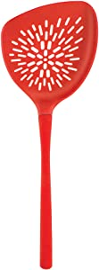 Tovolo Veggie Turner, Silicone & Nylon Handle, Roasting/Serving, Heat-Resistant to 400ᴼF, Candy Apple