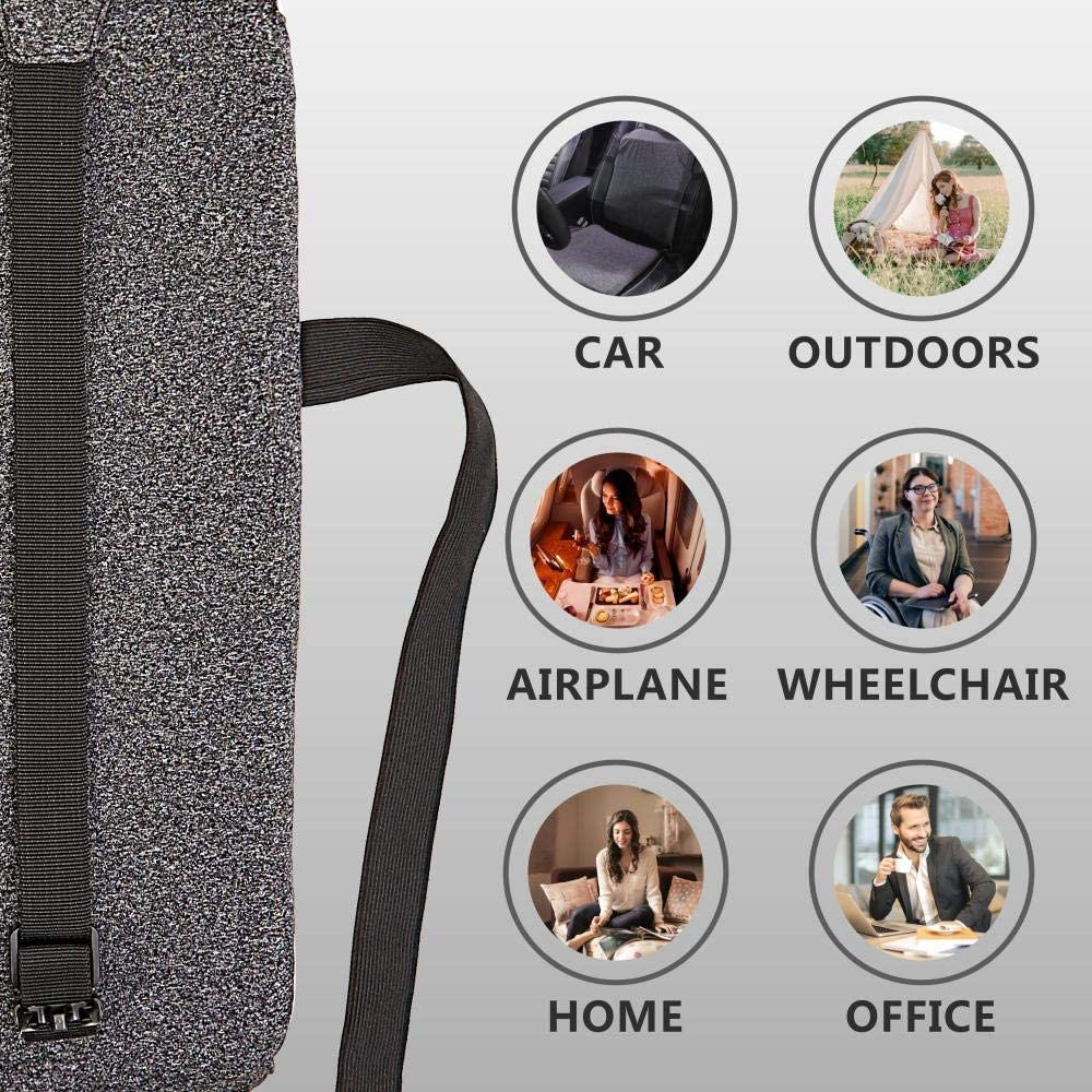 Relieve Back Pain and Coccyx urhgart Gel Seat Backrest Plus Cushion Set Absorb Pressure Points Breathable Honeycomb Design with Non-Slip Sleeve