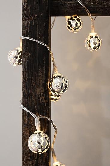 Kikkerland String Lights Silver Globe