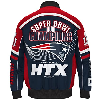 10091f3a2 Image Unavailable. Image not available for. Color  G-III Sports NFL Super  Bowl LI Champions Cotton Twill Varsity Jacket - New England