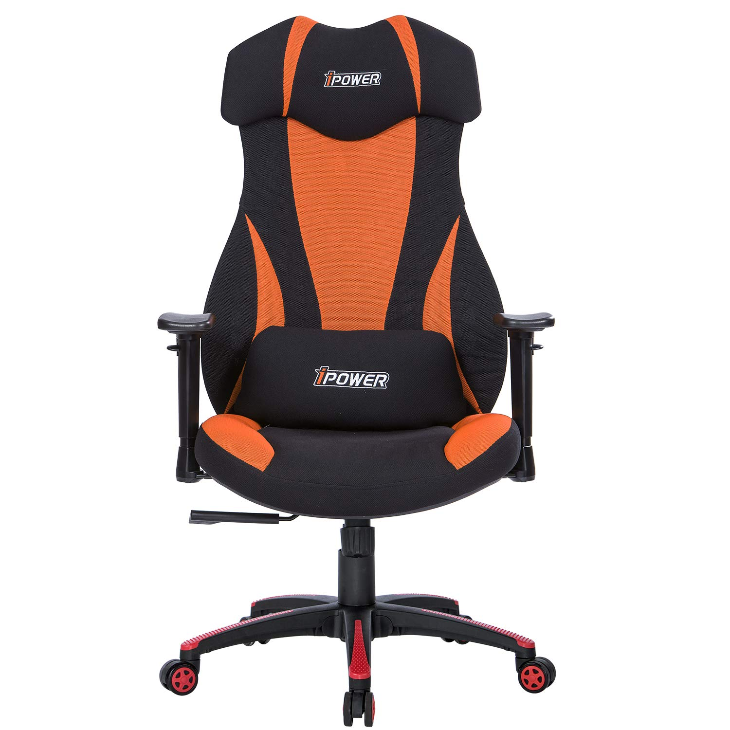 LIANFENG Gaming Office Chair, High-Back Racing Chair Mesh Chair Reclining Computer Desk Chair Ergonomic Executive Swivel Rolling Chair with Headrest Lumbar Support for Women, Men,Black Orange