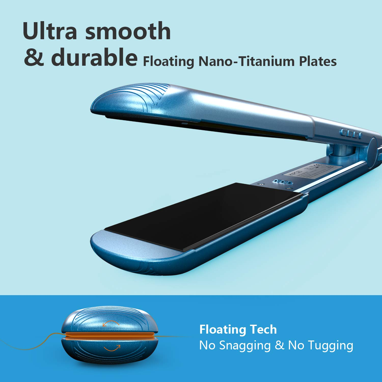 KIPOZI Pro Nano Titanium Flat Iron Hair Straightener with Digital LCD  Display, Instant Heat Up, High Heat