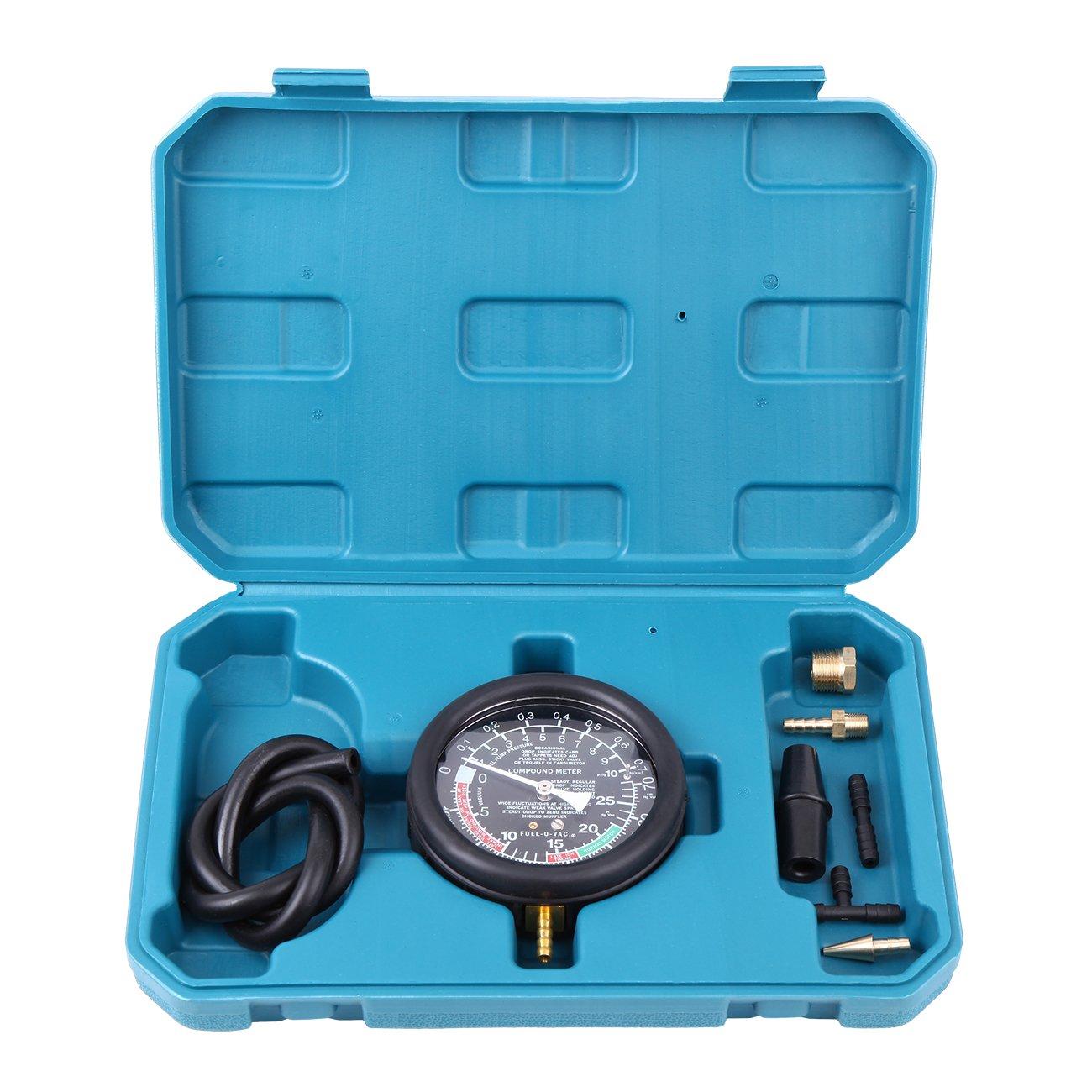 Ambienceo Car Fuel Pump & Valve Vacuum Tester Carburetor Pressure Diagnostic Test Gauge Tool Set