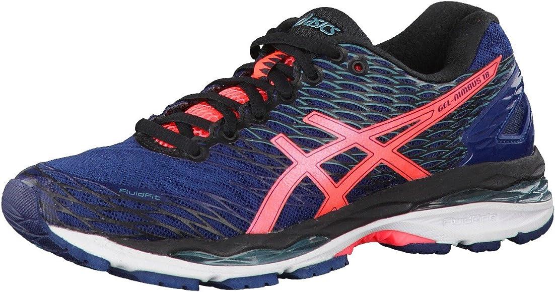 Asics W S Gel-Nimbus 18, Zapatillas de running para mujer Azul Size: 44,5 EU - 12 US: Amazon.es: Zapatos y complementos