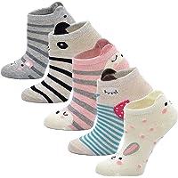 LOFIR Calcetines Divertidos de Algodón para Niñas Calcetines con Dibujos de Animal Perro Gato, Calcetines Vistosos…