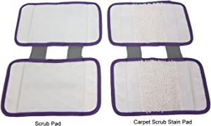 ESC Replacement Pads - carpet cleaning pad and scrub pad (2pc pack) for Shark Sonic Duo XTCRU500