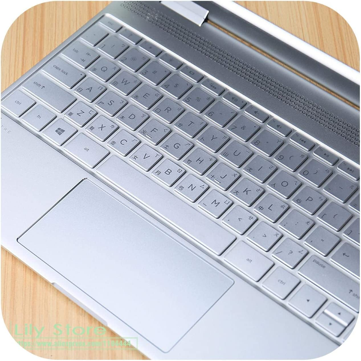 for Hp Spectre X360 13.3 Inch Soft Keyboard Protector Skin Cover for Hp Spectre X360 Laptop (2017 Newest Model) 13
