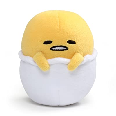 "GUND Gudetama ""Lazy Egg in Eggshell"" Stuffed Animal Plush, 5"": Gund: Toys & Games"