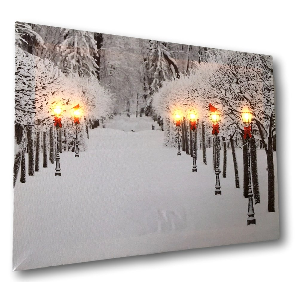 Amazon.com: Snowy Pathway Print - LED Lighted Picture with Winter ...