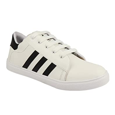 070d18f88619a1 1 WALK Running, Sports, Gyming Casual College Shoes for Men-White: Buy  Online at Low Prices in India - Amazon.in