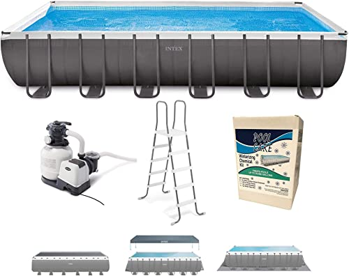 Intex 26363EH 24ft x 12ft x 52in Ultra XTR Frame Outdoor Above Ground Rectangular Swimming Pool Set