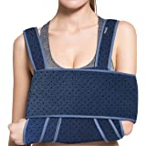 VELPEAU Arm Sling Shoulder Immobilizer - Can Be Used During Sleep - Rotator Cuff Support Brace - Adjustable Medical Sling for