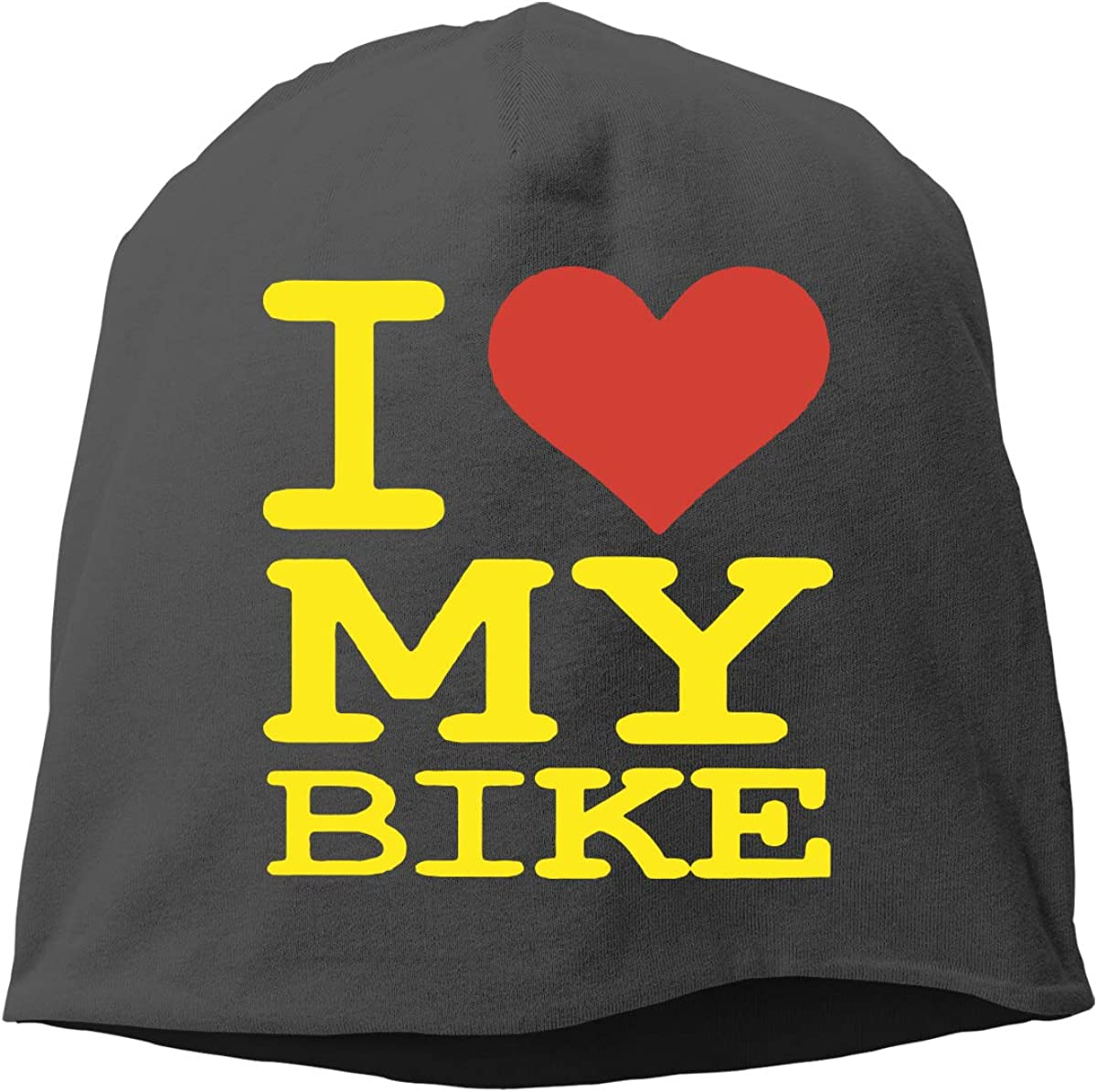 I Love My Bike Men /& Women Winter Skull Cap Running Beanie Hat