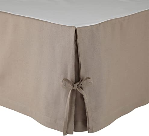 Polyester 140 x 190 cm Intemporel Cache sommier Microfibre Taupe