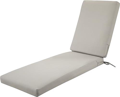 Classic Accessories Ravenna Water-Resistant 72 x 21 x 3 Inch Patio Chaise Lounge Cushion - a good cheap outdoor chair cushion