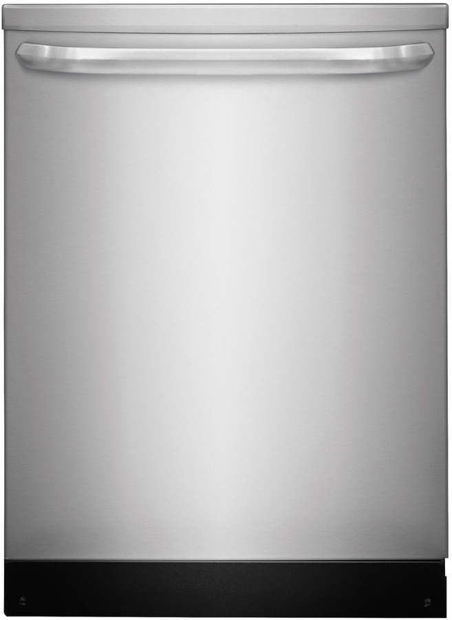 Shop Frigidaire 55-Decibel Built-in Dishwasher (Stainless Steel) (Common: 24-in; Actual: 24-in) ENERGY STAR at Lowes.com
